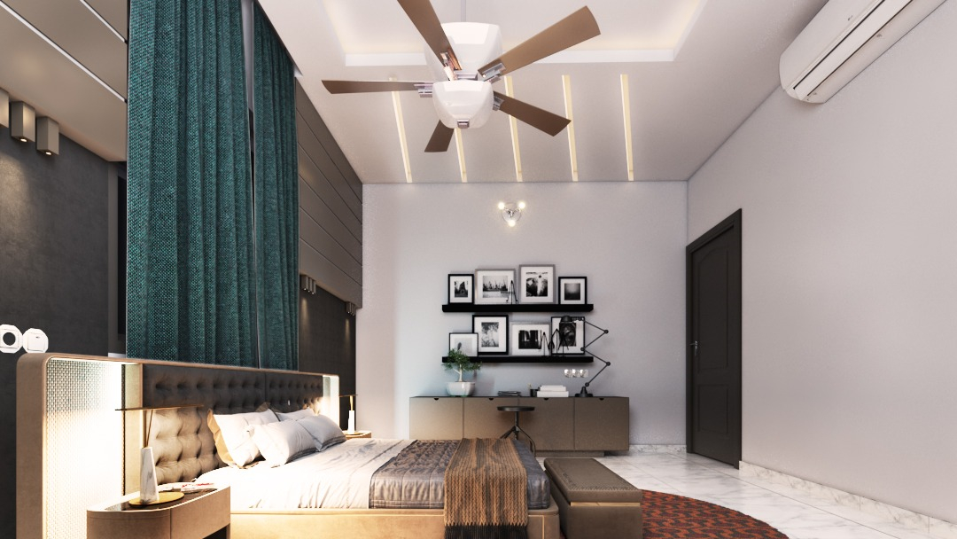 Master Bedroom in 3d max vray 3.0 image