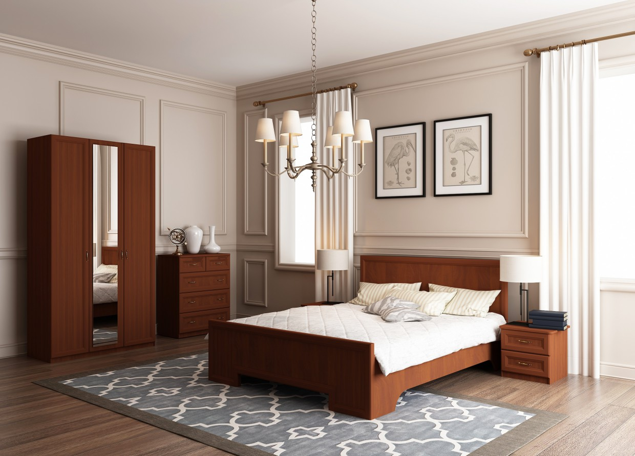 "Bedroom ""Style"" in 3d max vray 2.0 image"