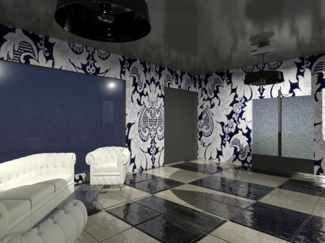 private room in 3d max mental ray image