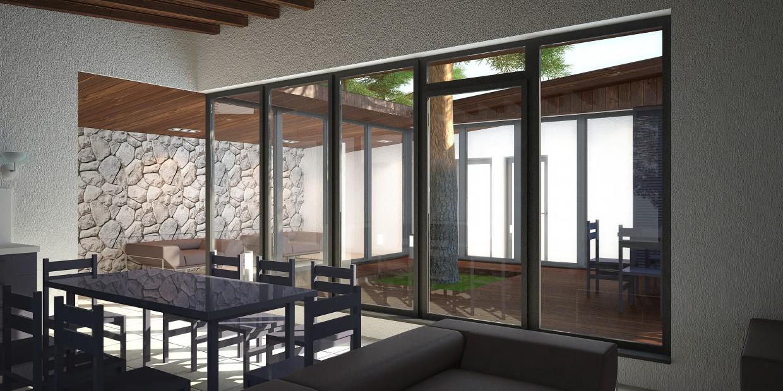 гостиная в загородном доме в 3d max vray изображение