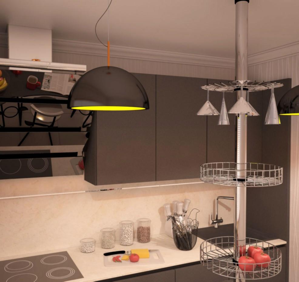 Кухня в 3d max vray изображение