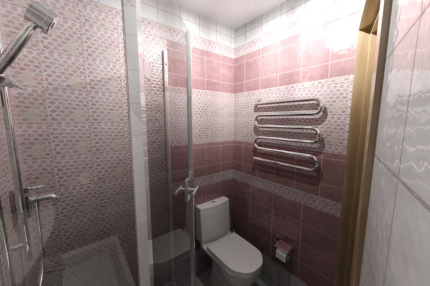Bath room in 3d max mental ray image