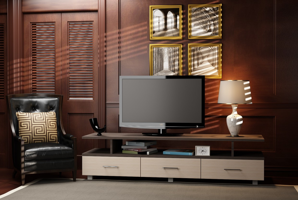 TV table in 3d max vray 2.0 image