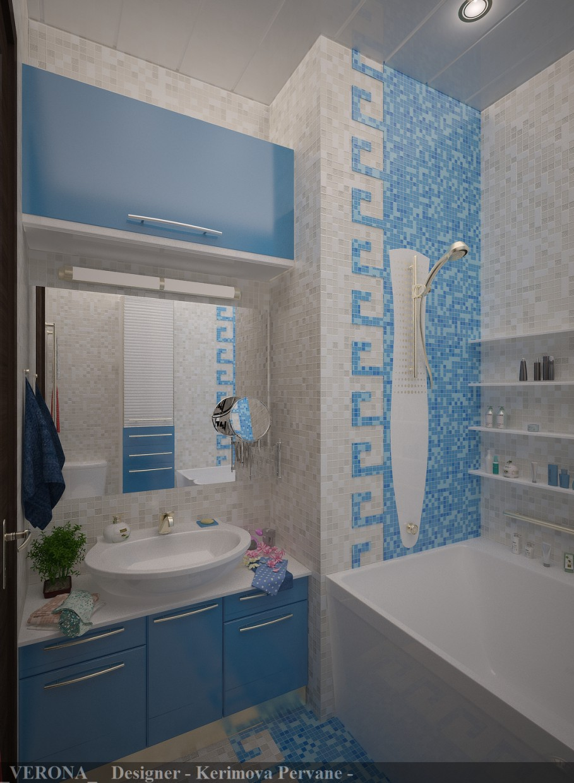 Ванна кімната в 3d max vray зображення
