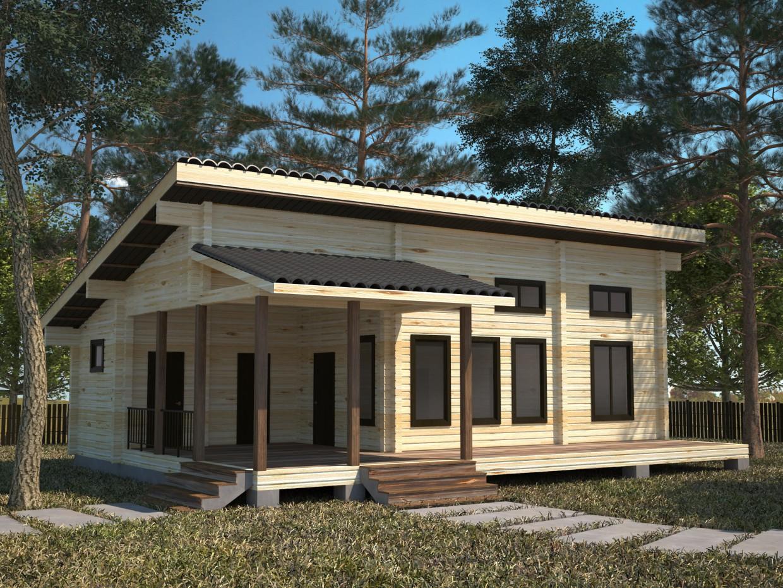 Дома из клееного бруса в 3d max vray изображение