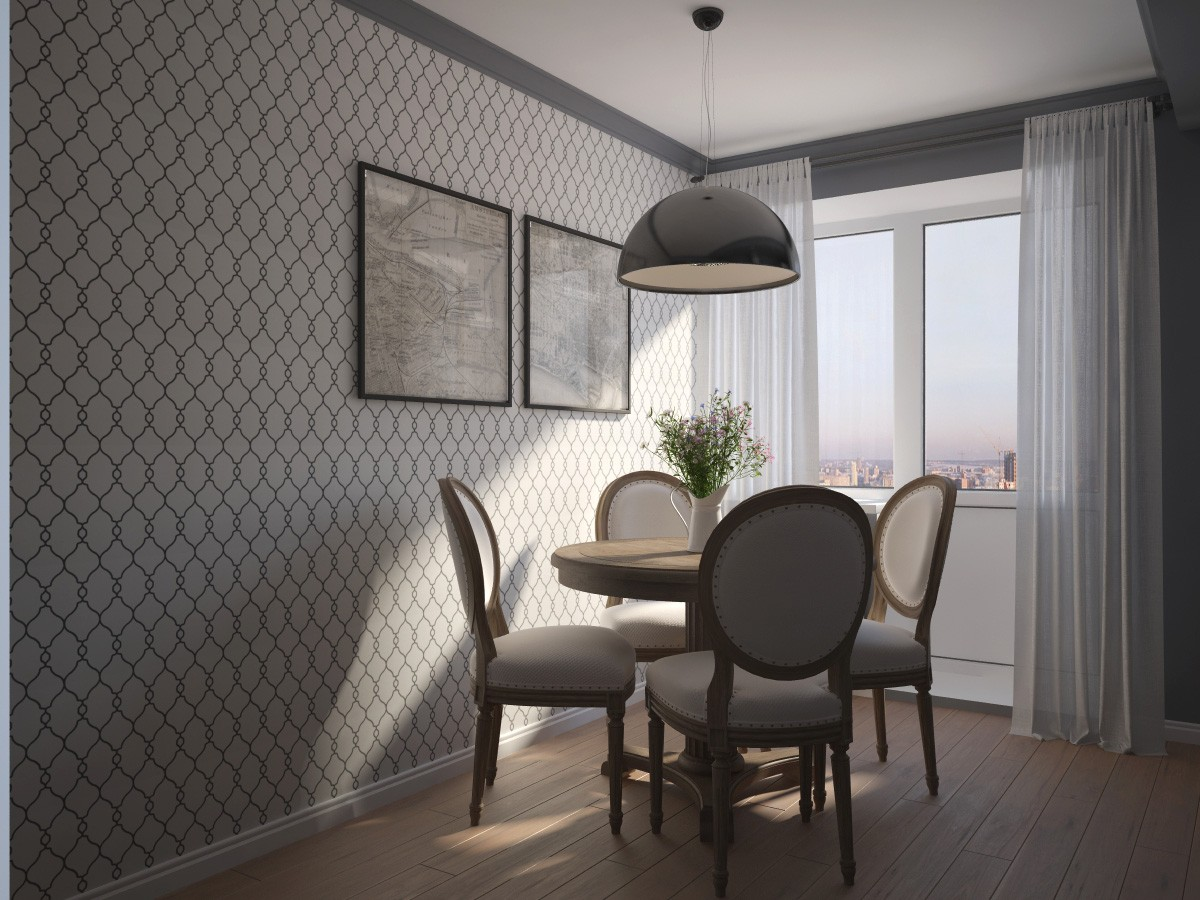 3d визуализация проекта Кухня в 3d max, рендер vray от Ируля