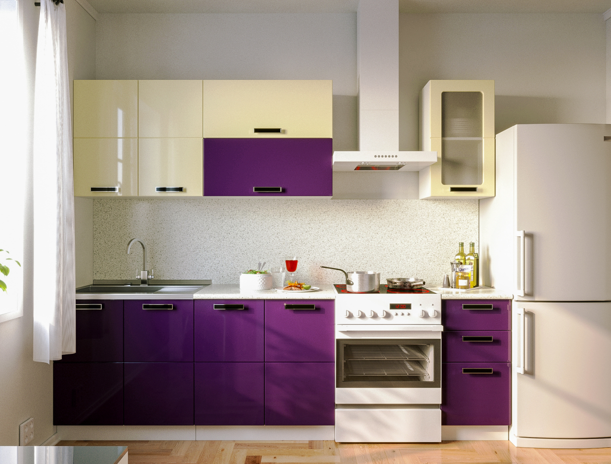 Kitchen for furniture catalog in 3d max corona render image