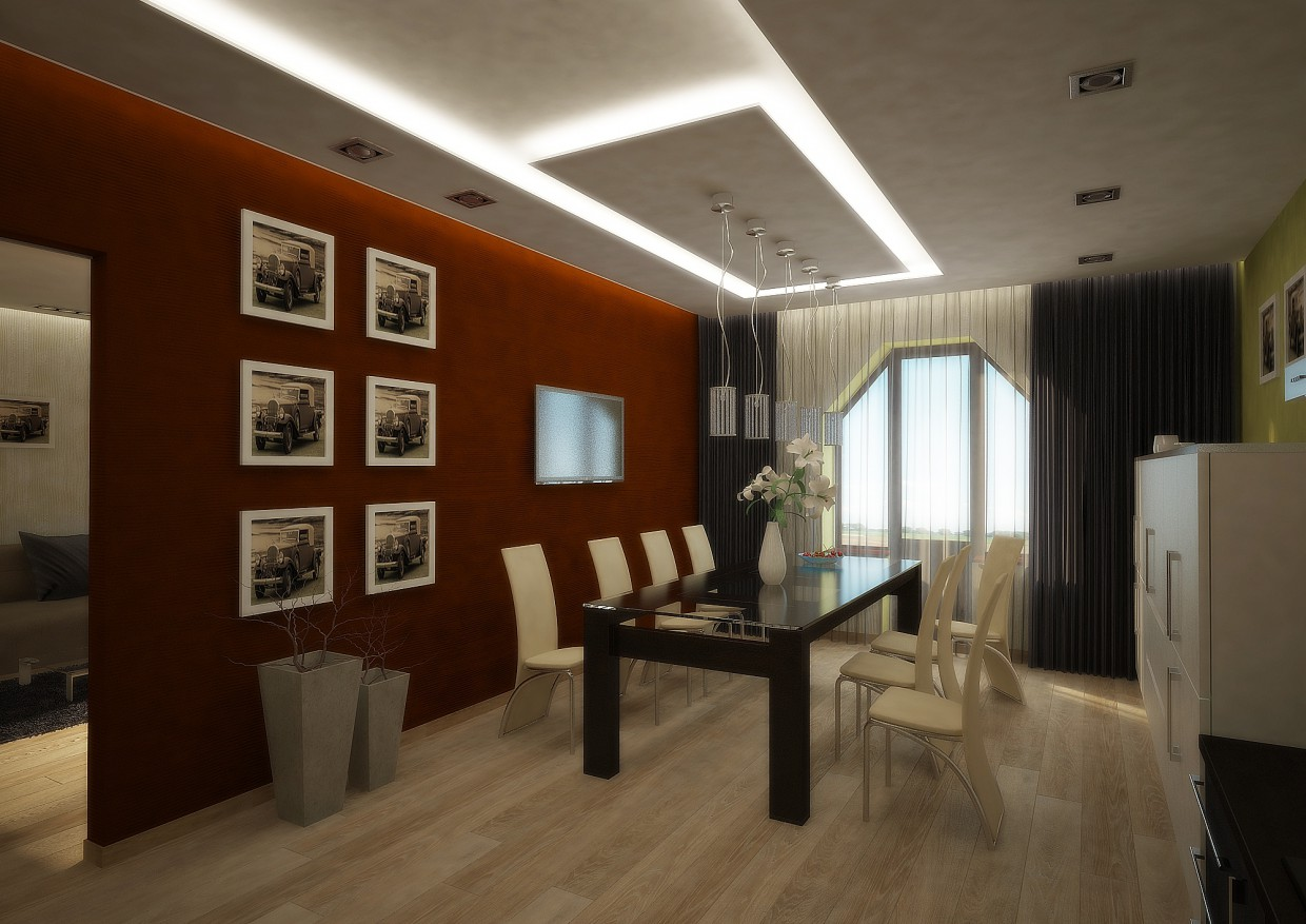 Kitchen - dinning room in 3d max vray image