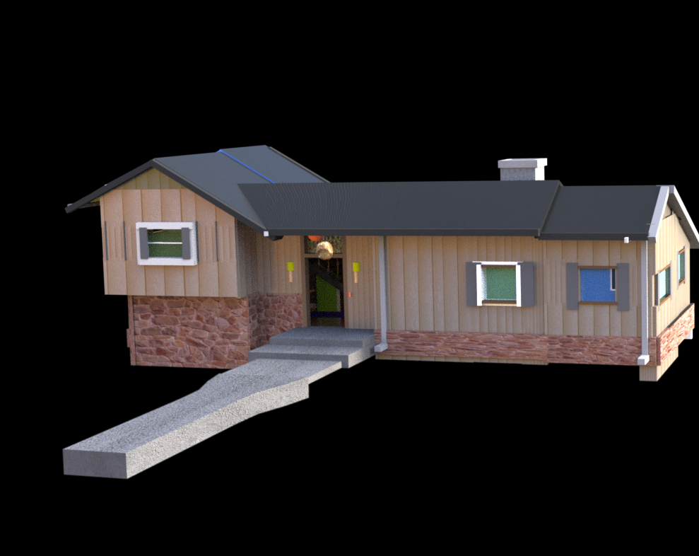 The Brady Bunch House Rendered in Daz in Daz3d Other image