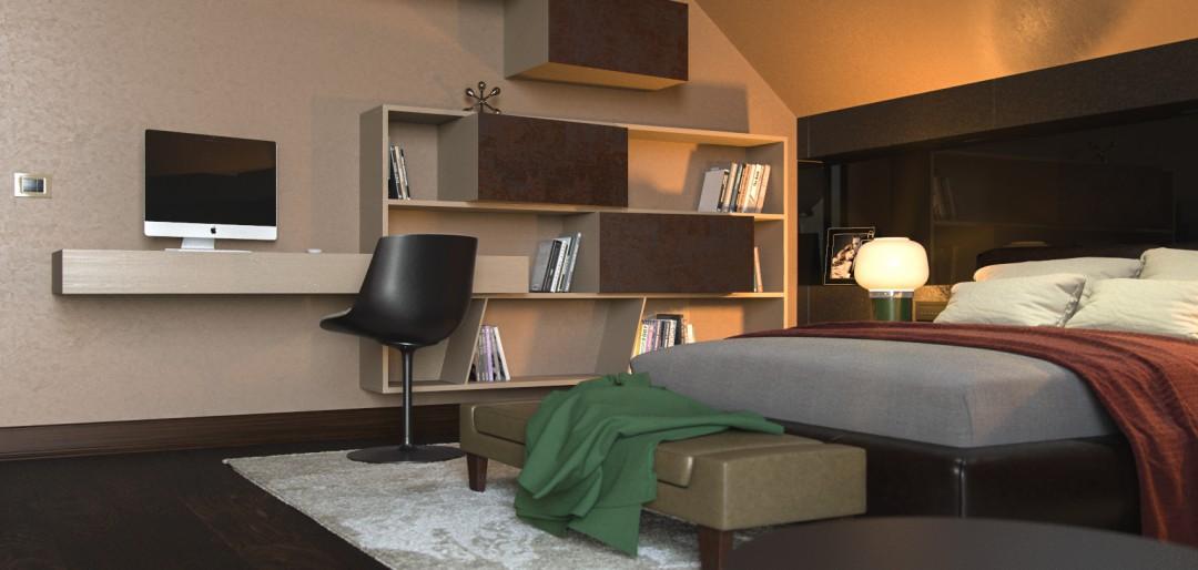 Boy's Bedroom in 3d max corona render image