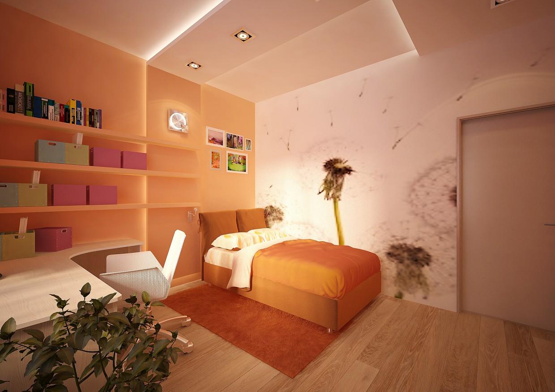imagen de Dormitorio para niñas en 3d max vray