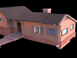 The Brady Bunch House Render #2 in Daz
