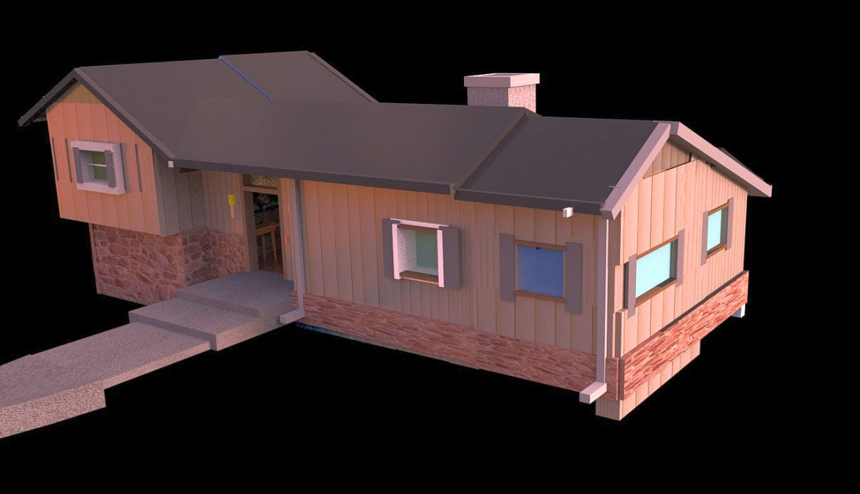 The Brady Bunch House Render PREVIEWNUM#