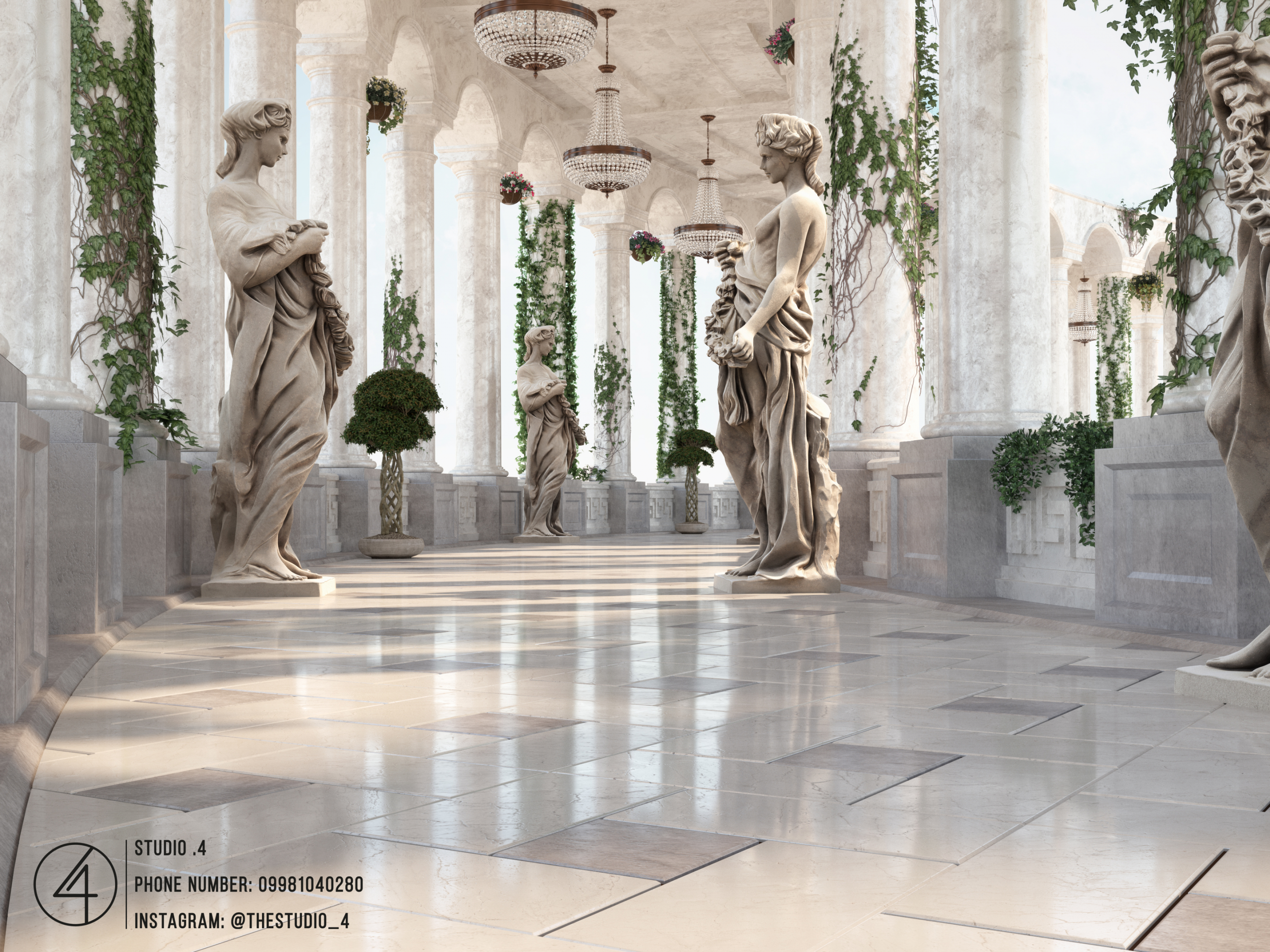 The Hall Of Angels in 3d max vray 3.0 image