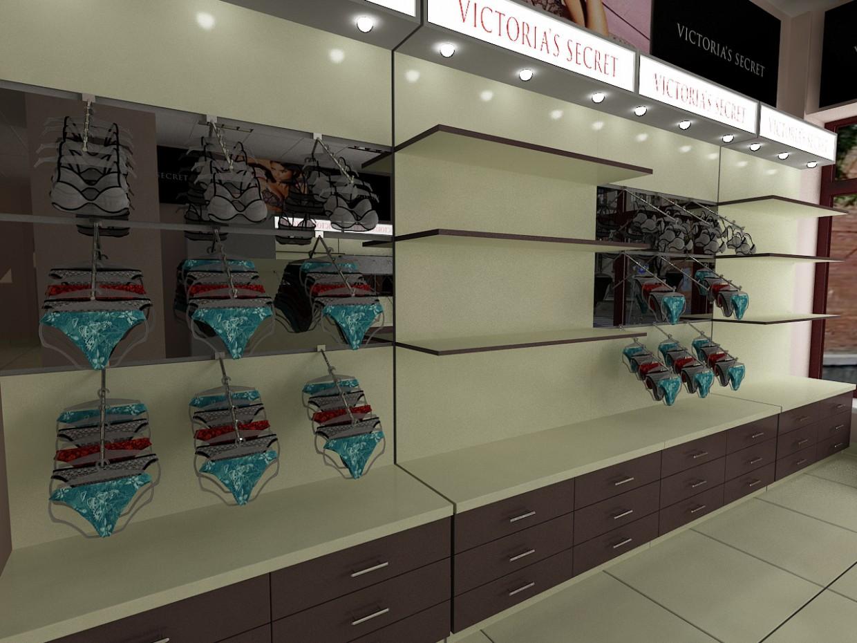 Магазин жіночої білизни в 3d max vray зображення