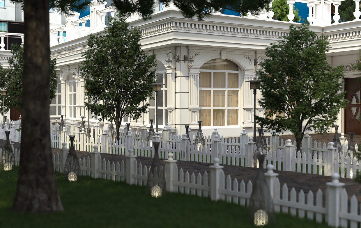 Classic wedding hall in 3d max vray 3.0 image