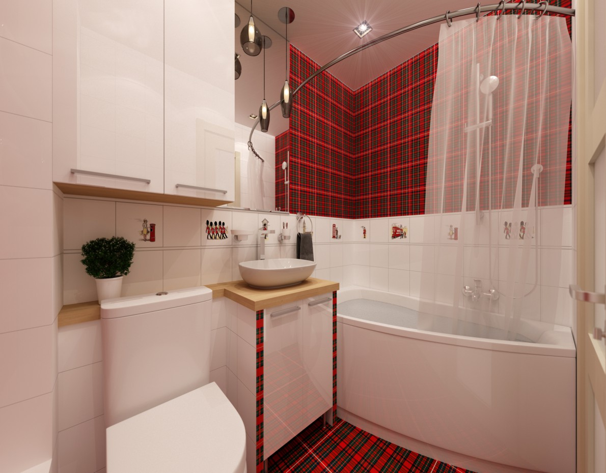 """""""English"""" bathroom in 3d max vray 2.5 image"""
