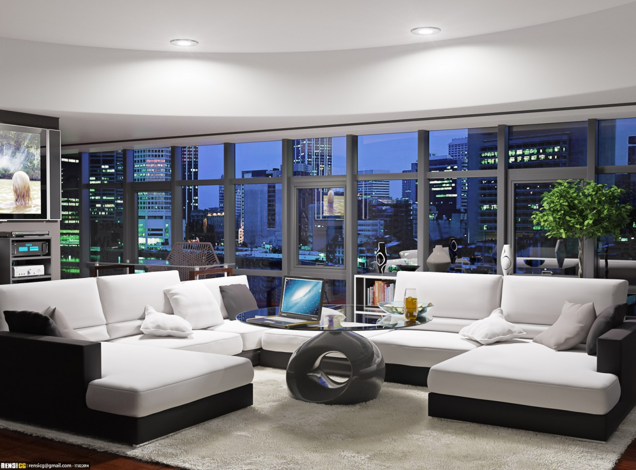 Penthouse Interior in 3d max corona render image