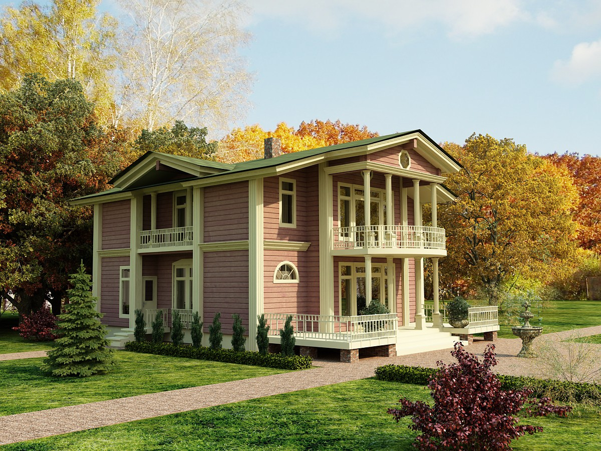 3d visualization of the project in the Manor 3d max, render vray of anmay