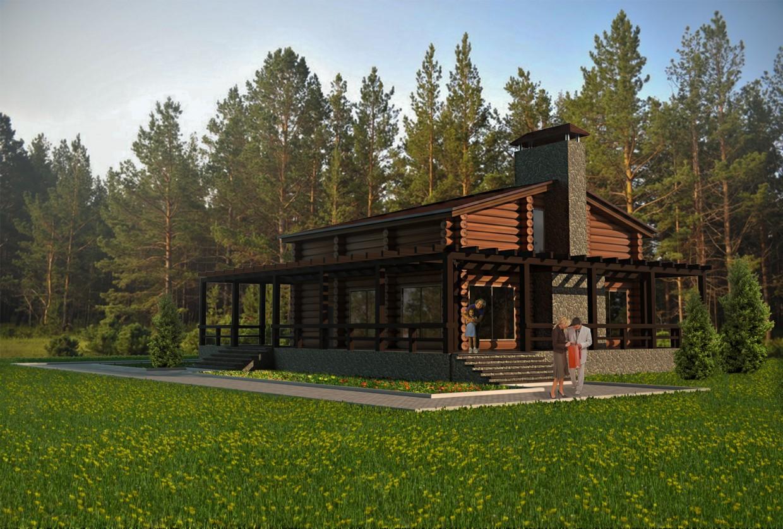 imagen de Casa de campo, registro de en 3d max vray