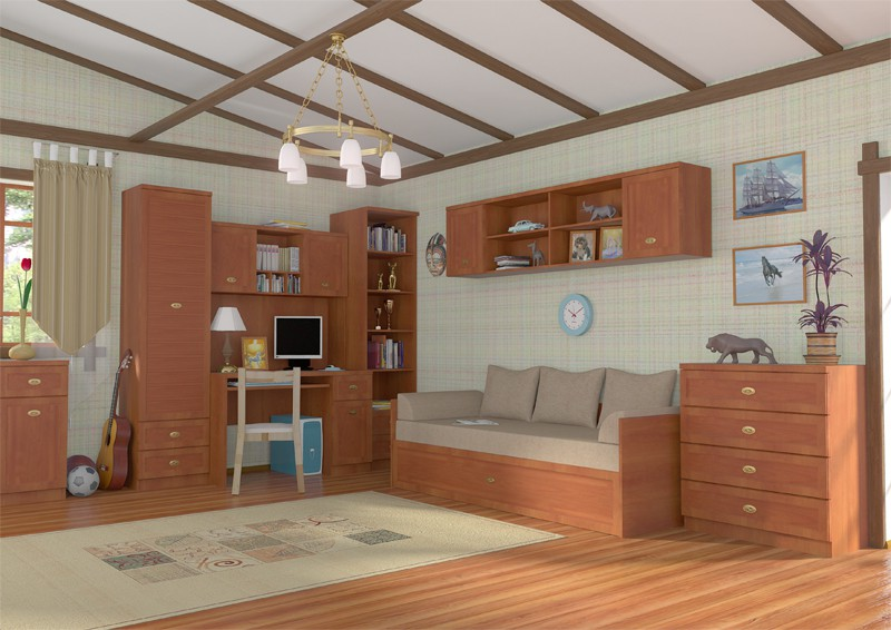 furniture in interior visualisation in Maya mental ray image