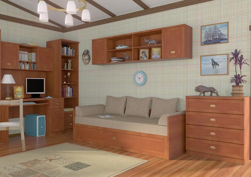 imagen de muebles en visualización interior en Maya mental ray