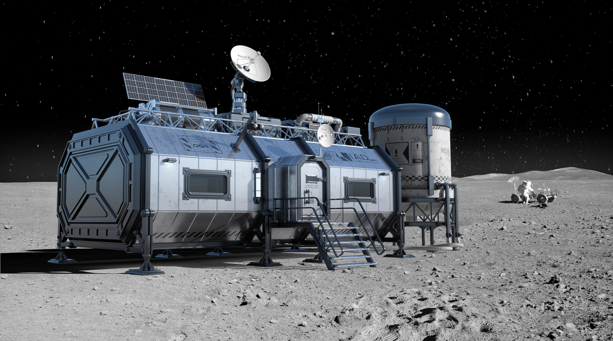 Lunar module in 3d max vray 1.5 image