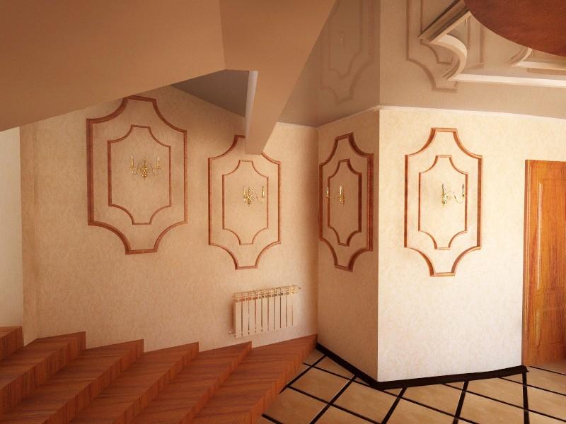 hallway in 3d max vray image