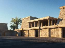 3 डी अवधारणा मिस्र की शैली