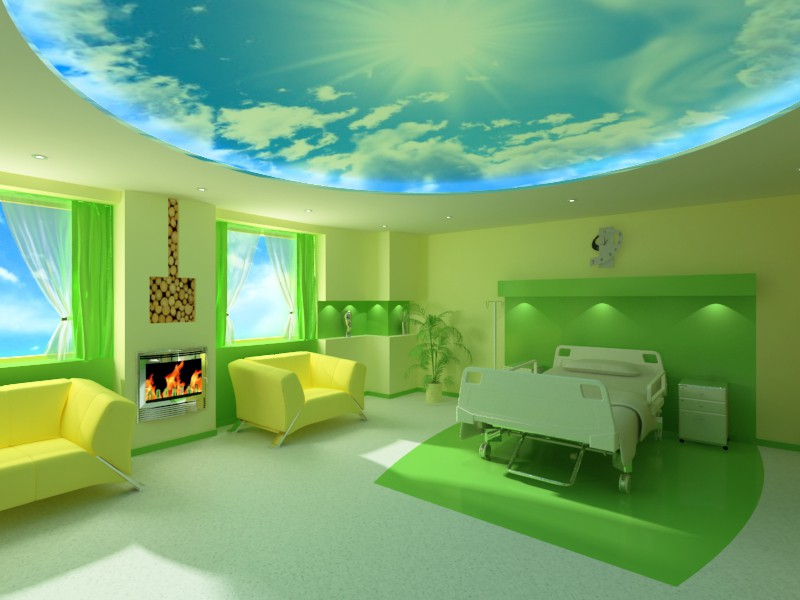 hospital-vip room in 3d max vray image