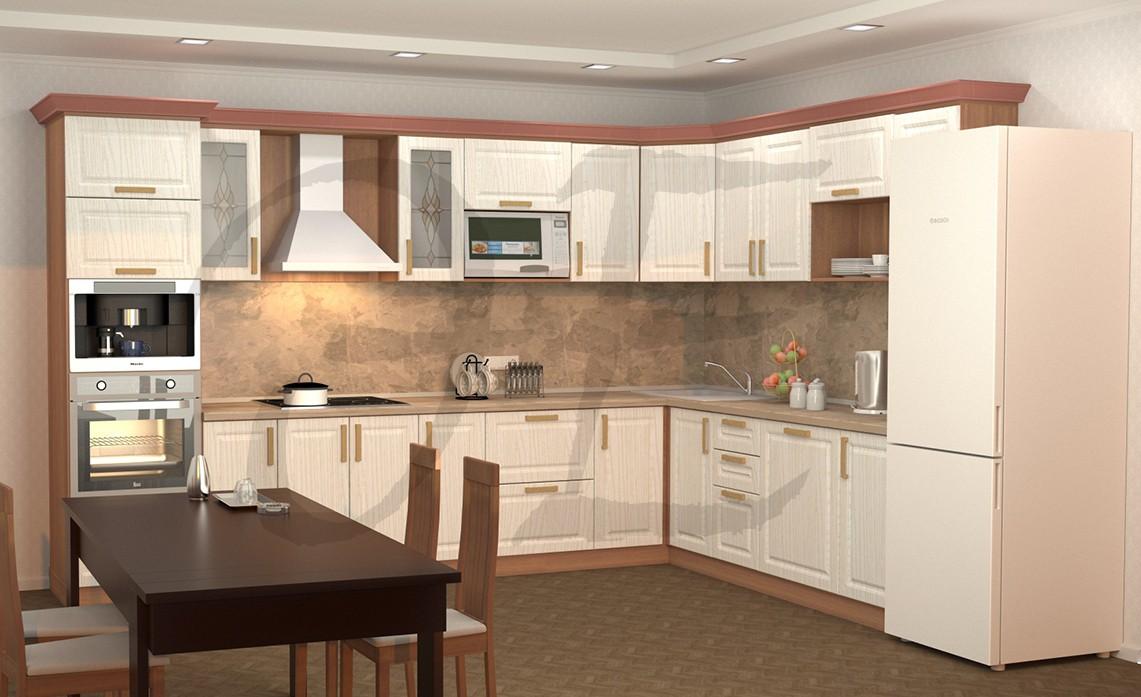 imagen de cocina clásica en 3d max vray 2.0