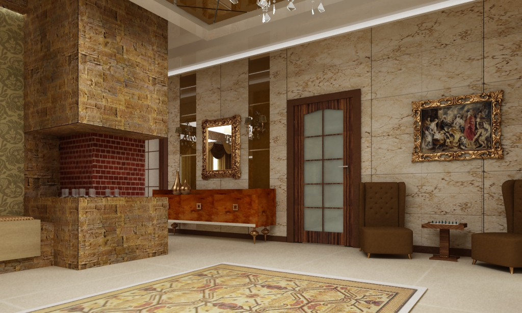 Гостевой дом в 3d max vray изображение