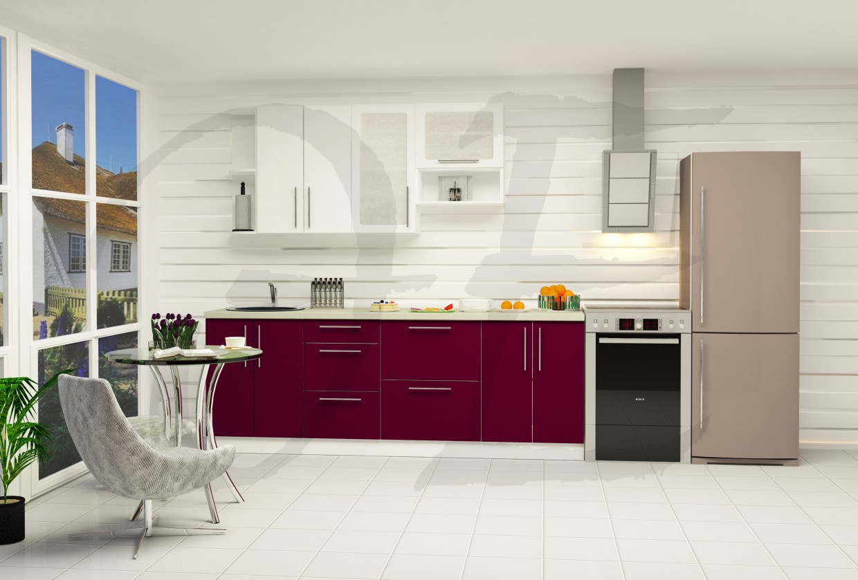 Bright kitchen in 3d max vray 2.0 image