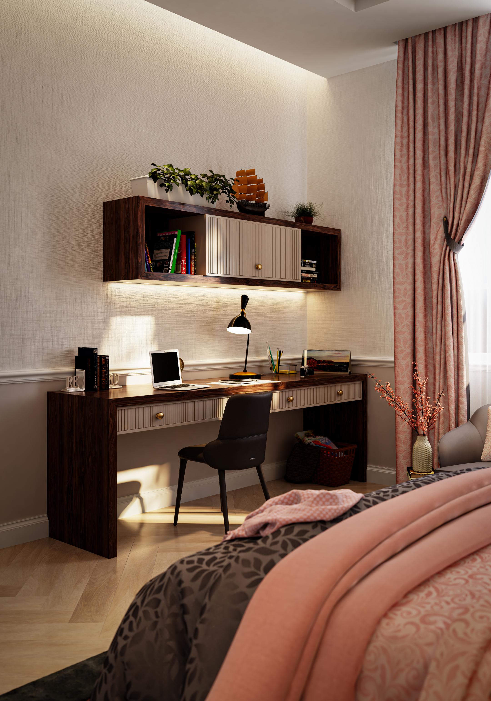 Simple Teen Girls Bedroom in 3d max vray 3.0 image