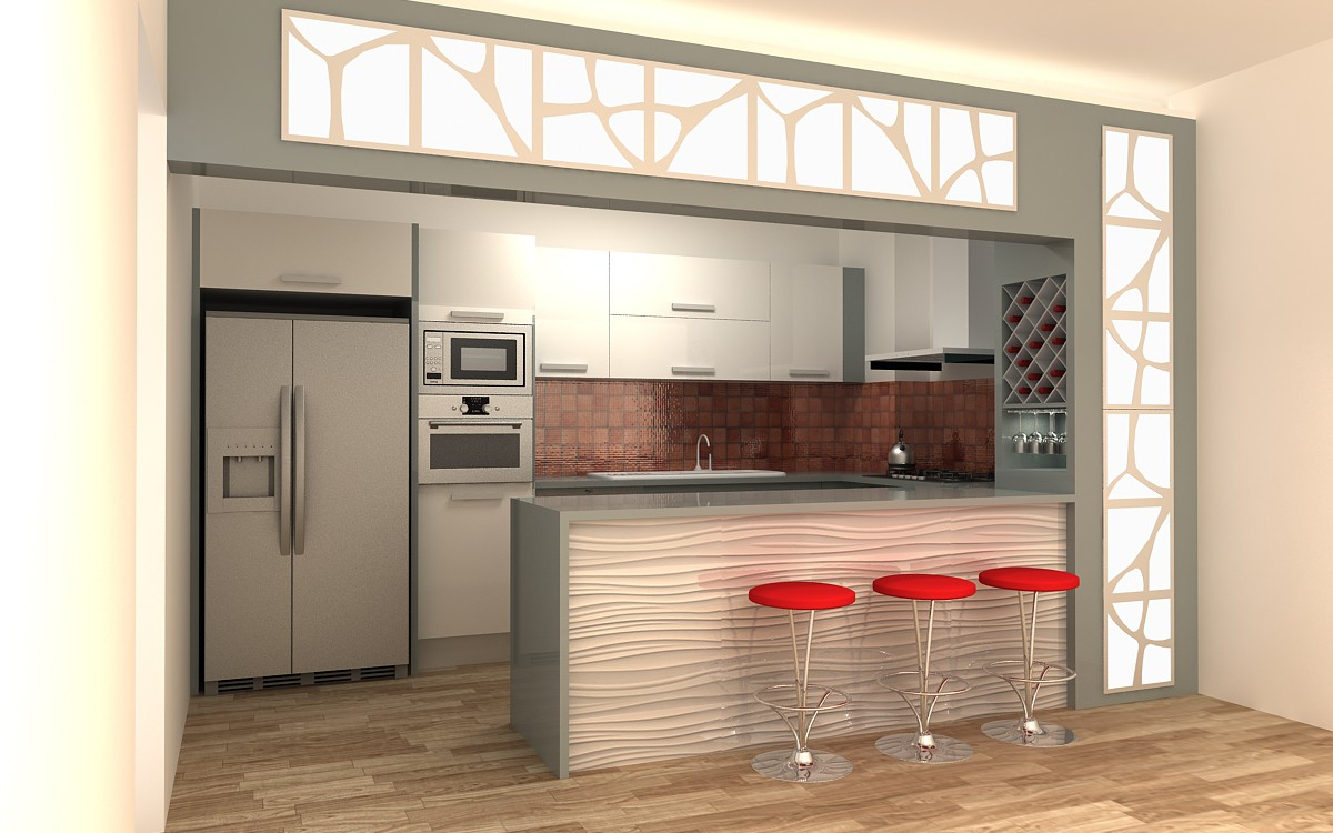 Melina - Kitchen  in  3d max   vray  image