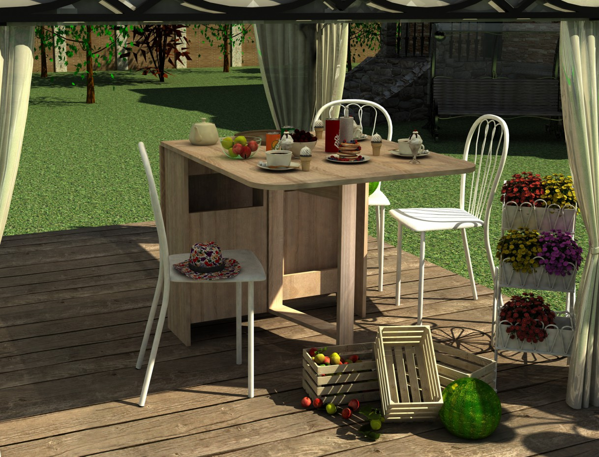 Cosy summer sweet corner in 3d max vray 2.0 image