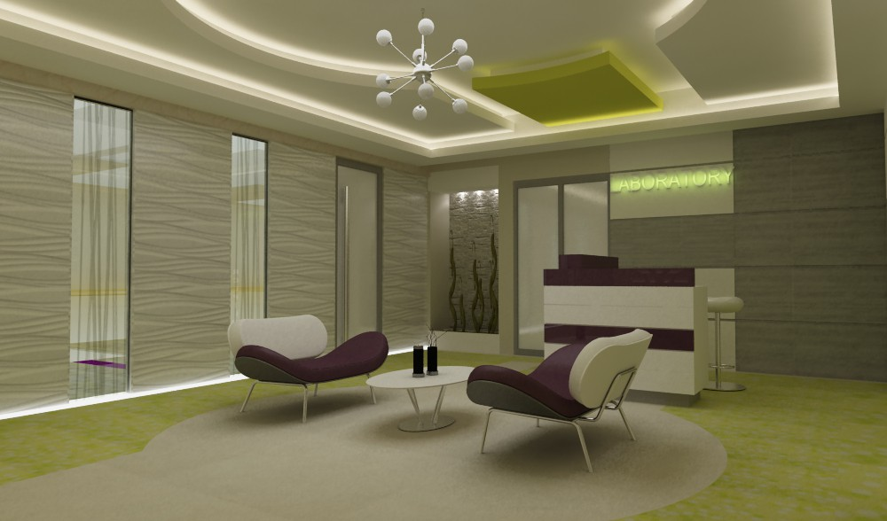 Laboratory lobby in 3d max vray image