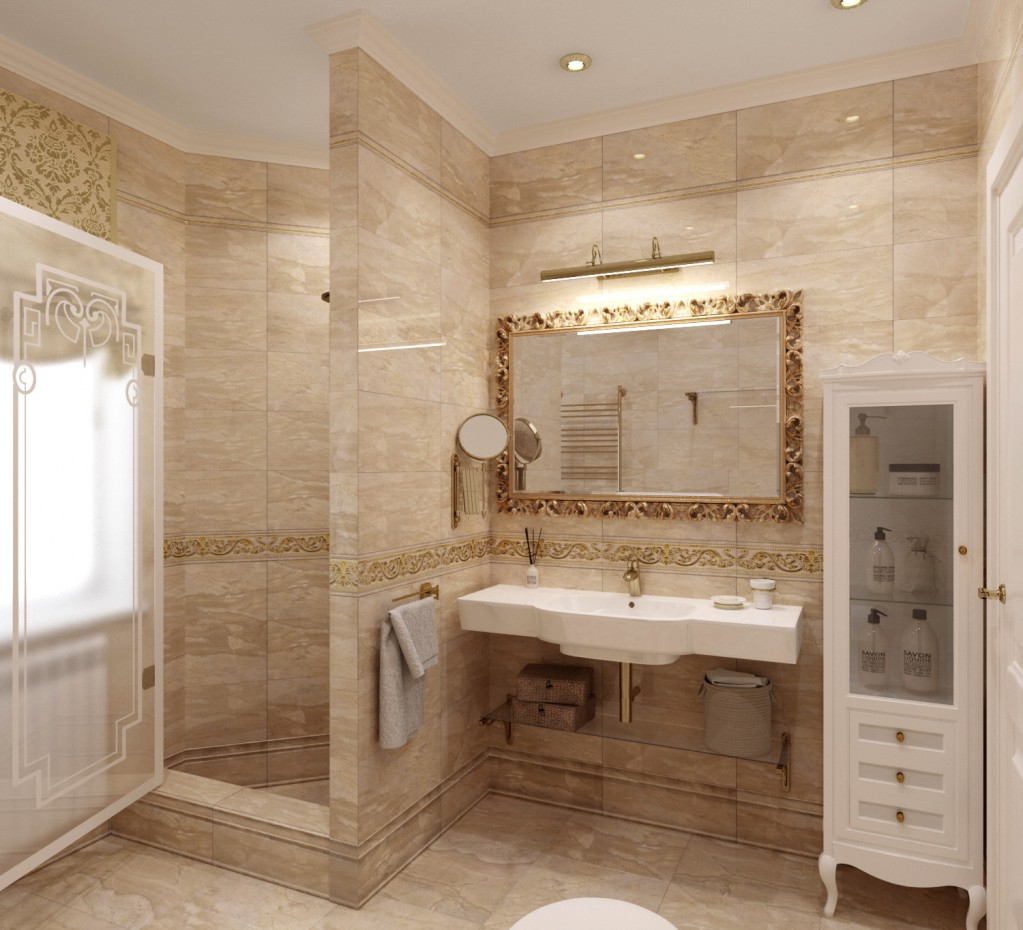 Lavatory in 3d max corona render image