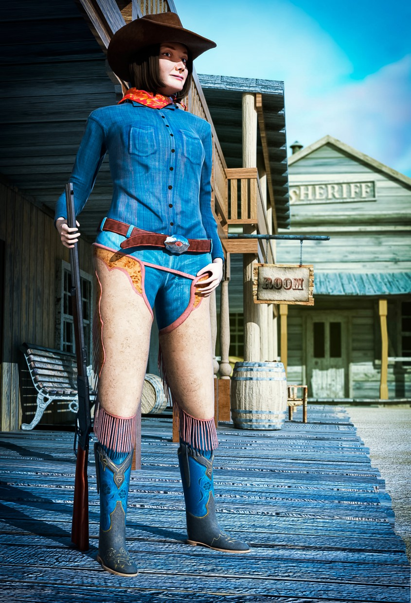 Cowgirl in Maya vray 2.0 image