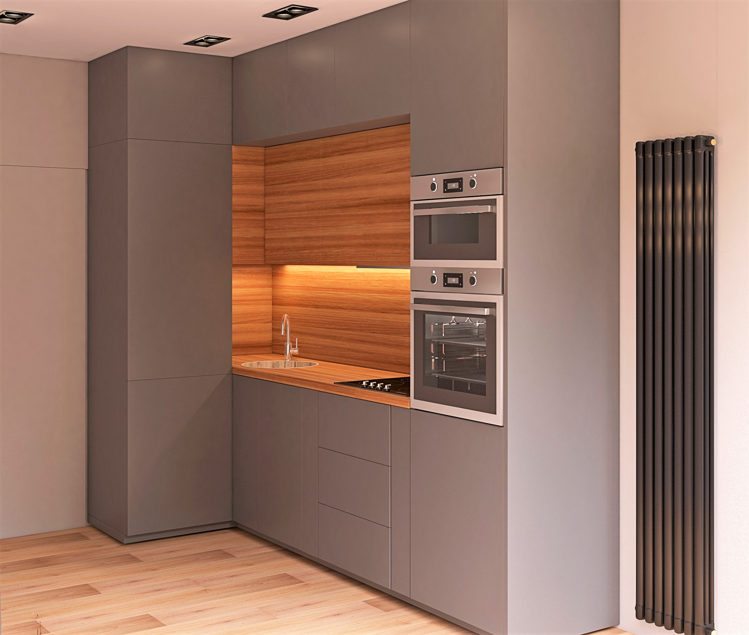 Kitchen design project in 3d max vray 3.0 image
