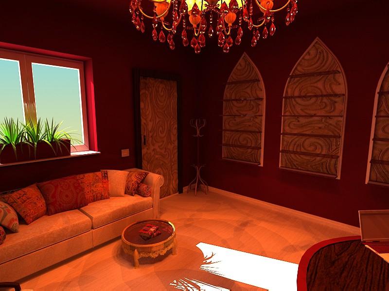 Магазин индийской косметики в 3d max vray изображение