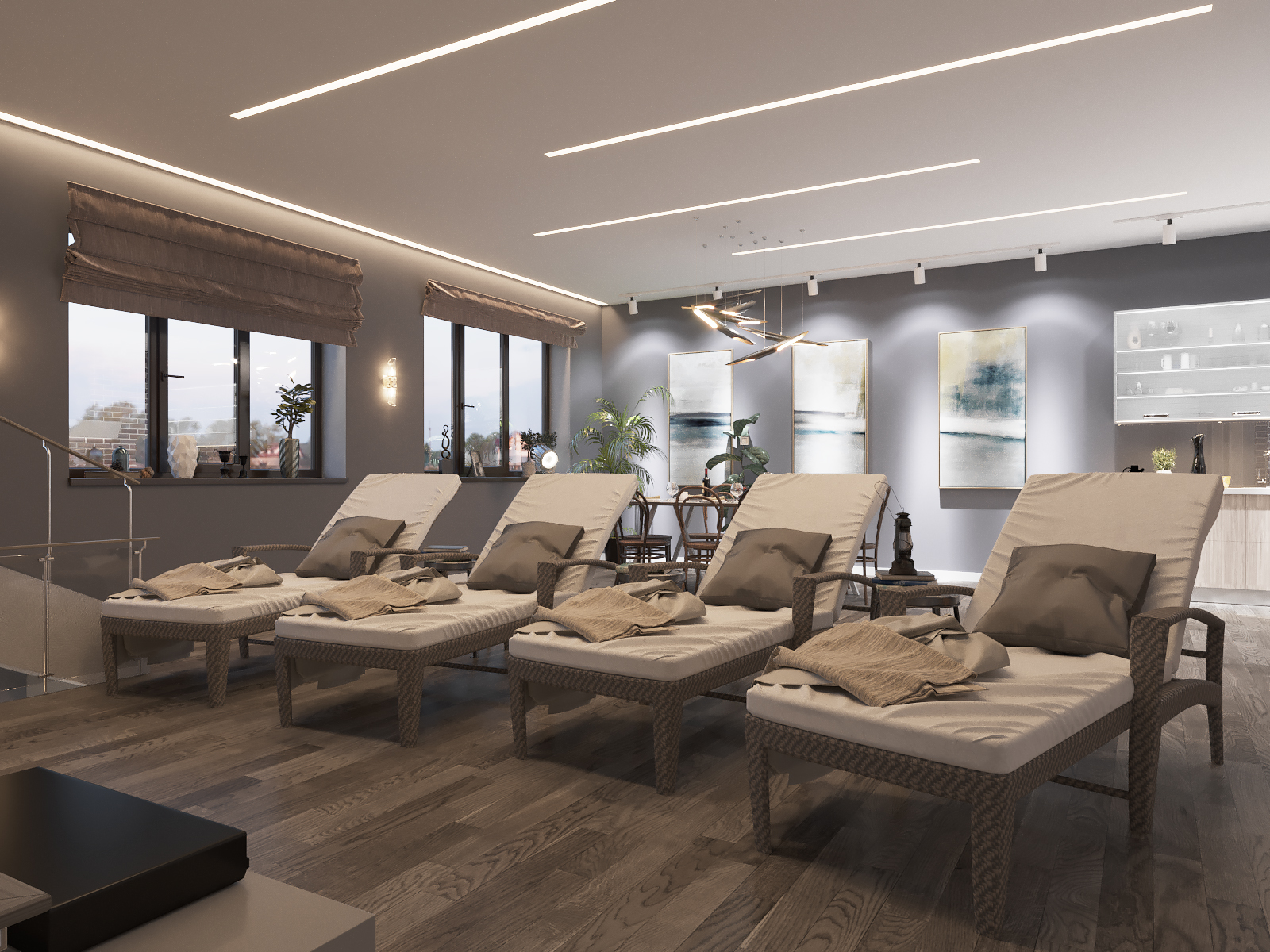 3D Vis of interior в 3d max corona render зображення