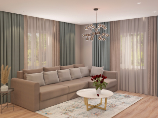 living room in a private home