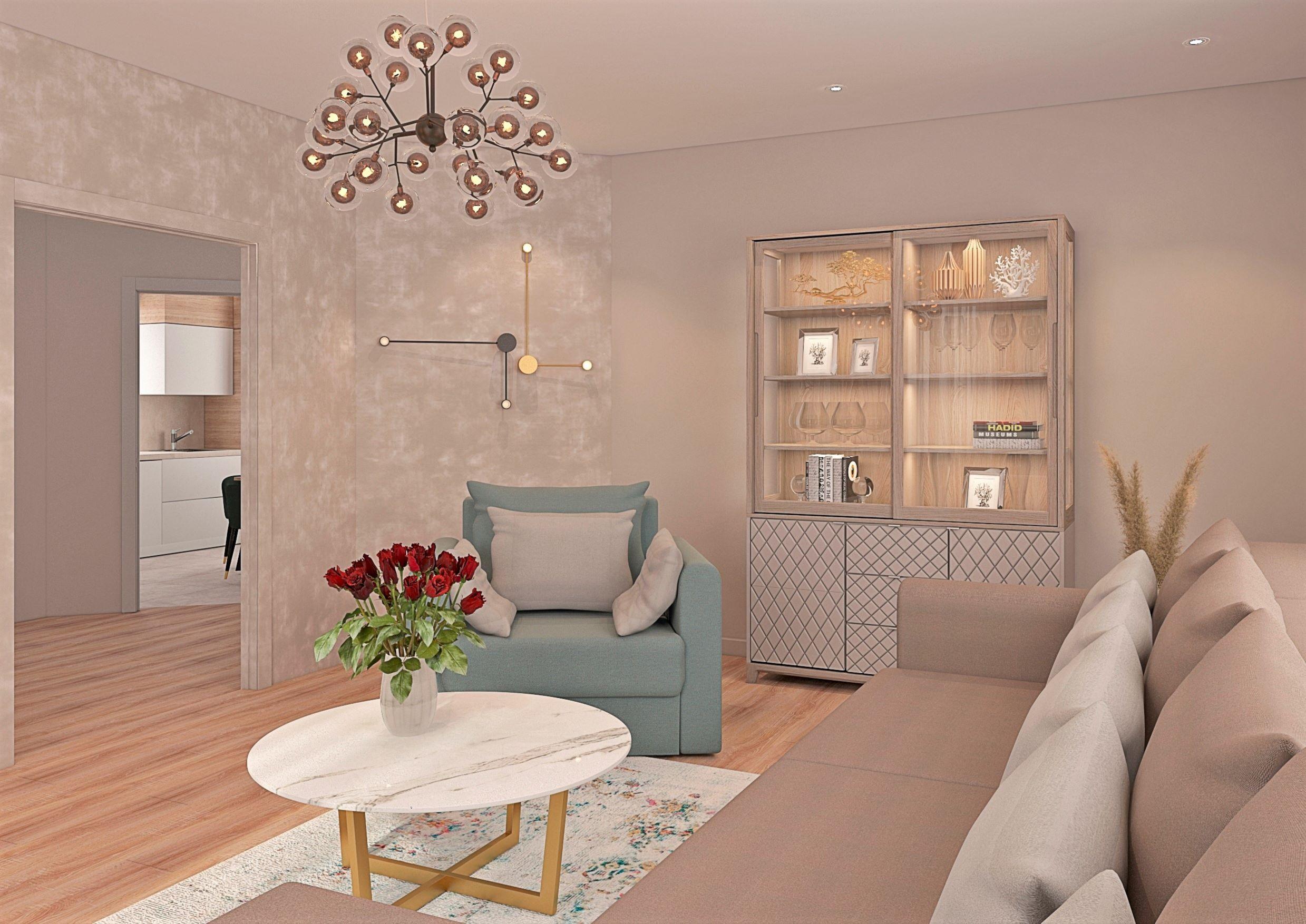 salle de séjour dans une maison privée dans 3d max vray 3.0 image