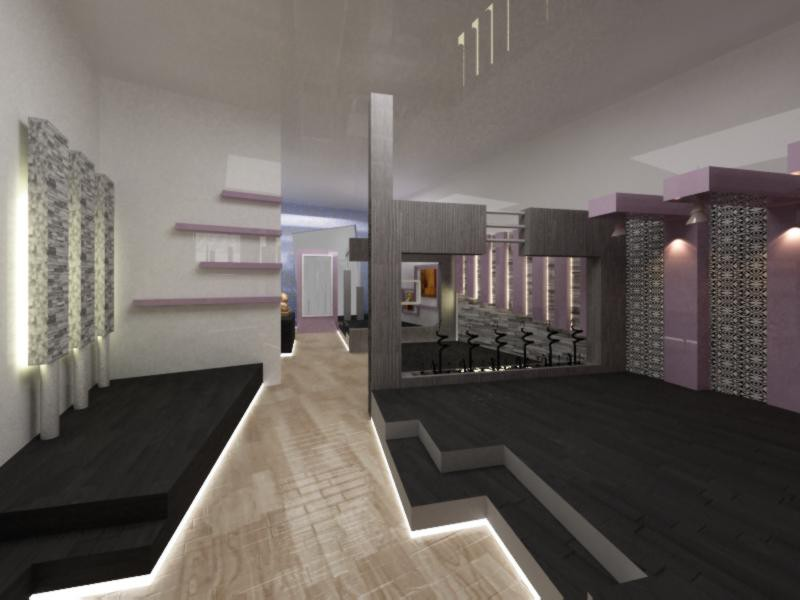 show room in 3d max vray image
