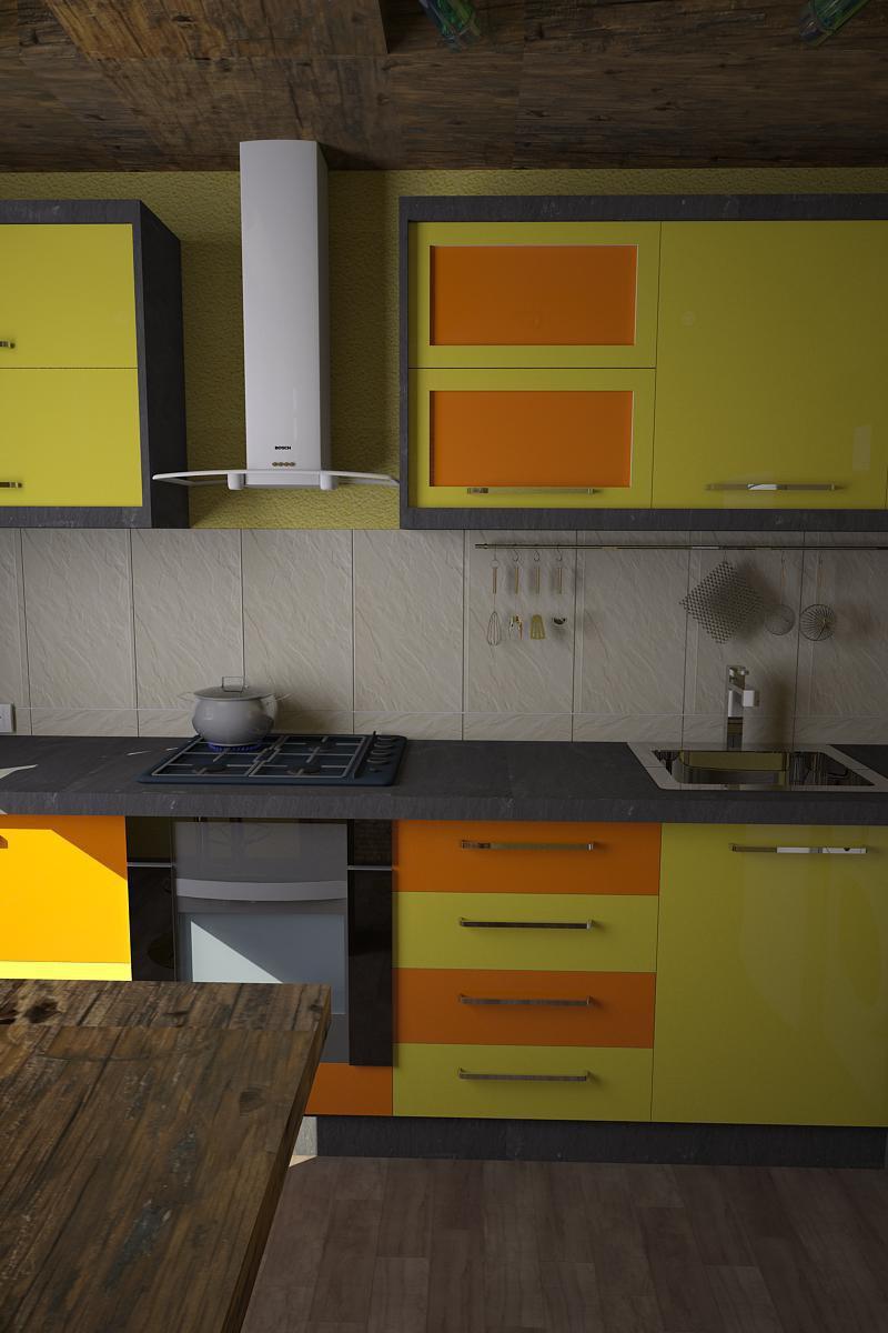 3D Visualisierung des Projektes in der Küche 3d max , Rendern vray von Olg@