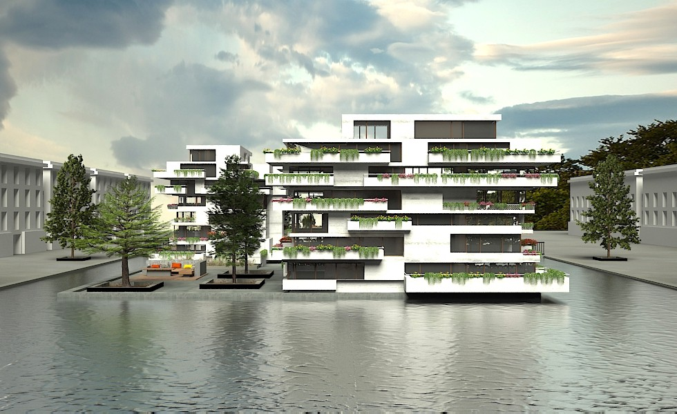 3d visualization of the project in the Kronløb Island 3d max, render vray 2.5 of NewYear