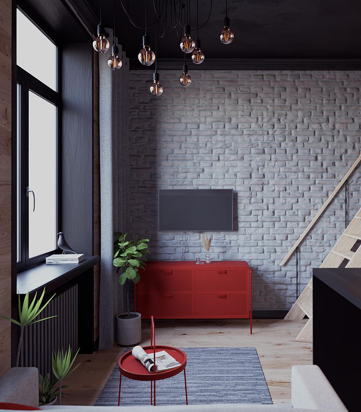 Loft Studio 18m in Blender cycles render image
