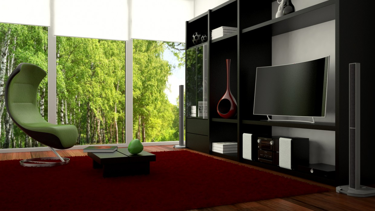Room in Maya vray image