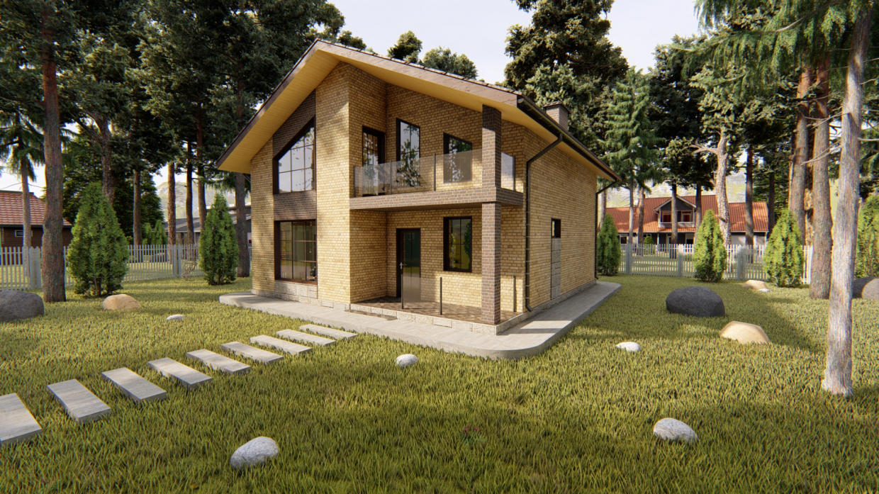 Two-storey private house in ArchiCAD Other image